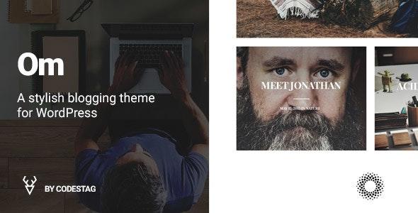 OM - A stylish blogging theme for WordPress - Blog / Magazine WordPress