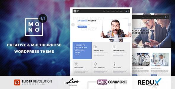 Mono - Creative Multipurpose WordPress Theme - Creative WordPress