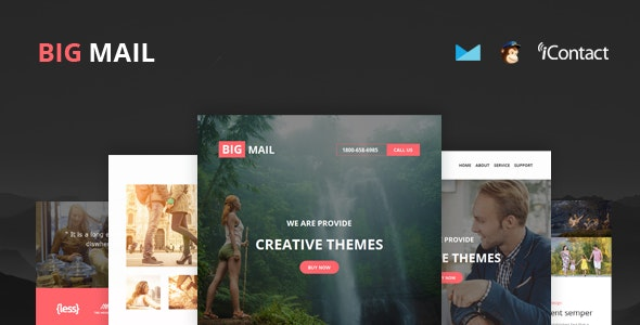 Big Mail - Responsive E-mail Template + Online Access  - Email Templates Marketing