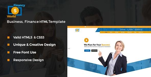 Financy World | Finance HTML Template  - Corporate Site Templates