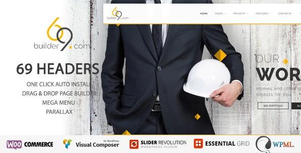 builder69 - Construction, Building WordPress theme - Business Corporate