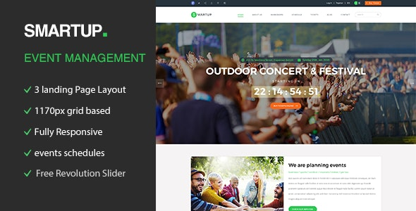 Smart Up - Conference & Event HTML Template - Events Entertainment