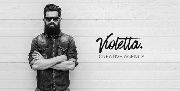 Violetta   Creative Agency Minimal Responsive Site Template - Creative Site Templates