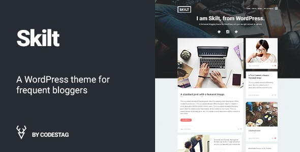 Skilt - A WordPress theme for Frequent Bloggers