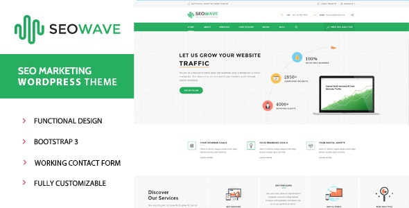 Seo Wave - WordPress Theme for SEO - Business Corporate