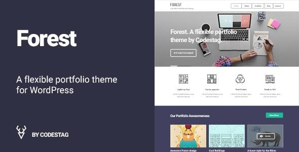 Forest - A flat and Bold Portfolio WordPress Theme - Portfolio Creative