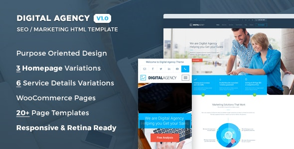 Digital Agency - SEO / Marketing HTML Template - Marketing Corporate