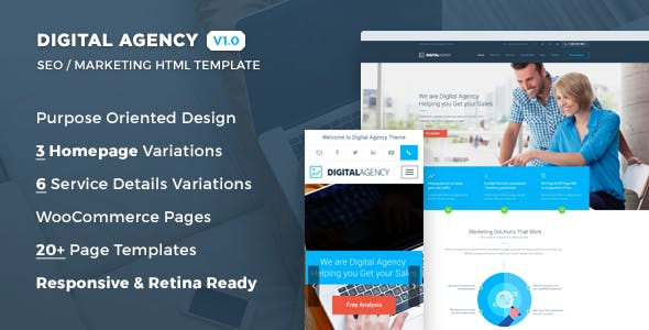 Digital Agency - SEO / Marketing HTML Template by suniljoshi