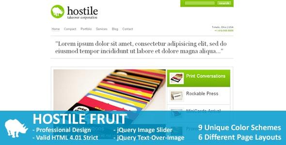 Hostile Fruit - Corporate Site Templates