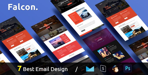 Falcon - Complete Email Package - Responsive Templates + Builder - Email Templates Marketing