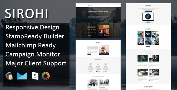 SIROHI - Multipurpose Responsive Email Template + Stampready Builder - Email Templates Marketing