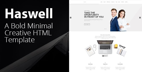 Haswell - Agency & Portfolio HTML Parallax Template - Creative Site Templates