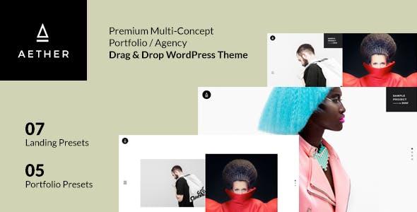 Aether - WordPress Minimal & Enjoyable Multi-Concept Portfolio / Agency Theme