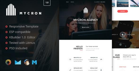 Mycron- Responsive Email Template + Kbuilder 1.0 - Email Templates Marketing