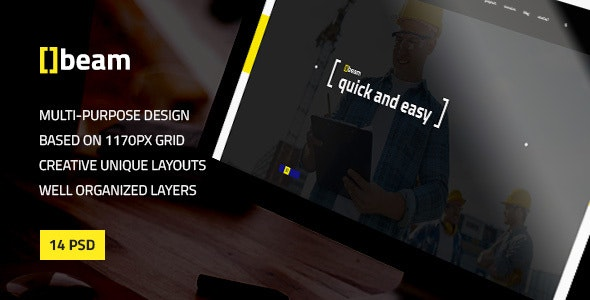 Beam — Modern Multipurpose PSD Template for Construction Business - Business Corporate