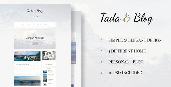 Tada & Blog - Personal PSD Template - Personal Photoshop