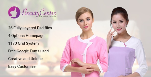 BeautyCentre - Professional Beauty & Spa Services PSD - Miscellaneous Photoshop