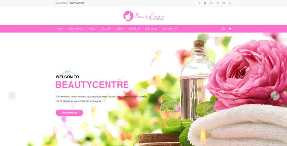 BeautyCentre - Professional Beauty & Spa Services PSD