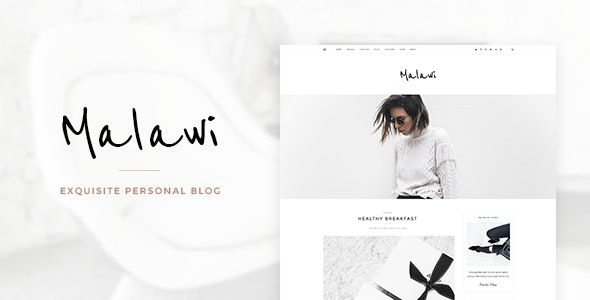 Malawi - Exquisite Personal Blog PSD Template - Creative Photoshop