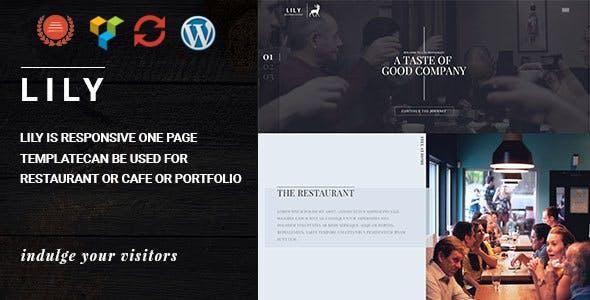 Lily | One Page Restaurant WordPress Theme
