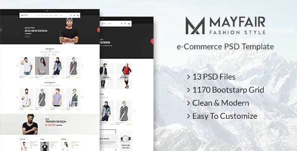 Mayfair - eCommerce PSD Template - Fashion Retail
