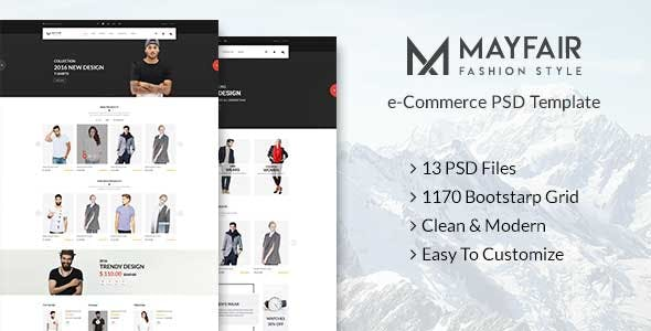 Mayfair - eCommerce PSD Template