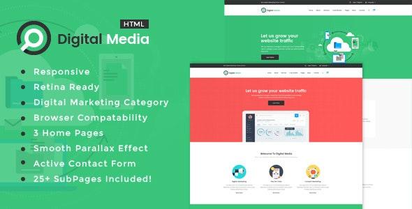 Digital Media - Online Marketing HTML Template - Portfolio Creative