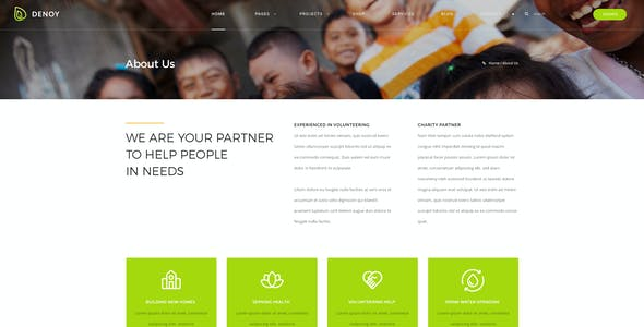 Denoy - Fundraising & Donation PSD template