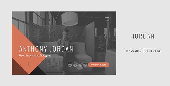 Jordan - Modern Onepage Resume / Portfolio Template - Resume / CV Specialty Pages