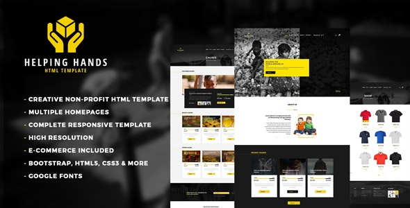 Helping Hands - Nonprofit Charity & NGO Fundraising - Nonprofit Site Templates