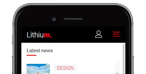 Lithium - Responsive Mobile Template