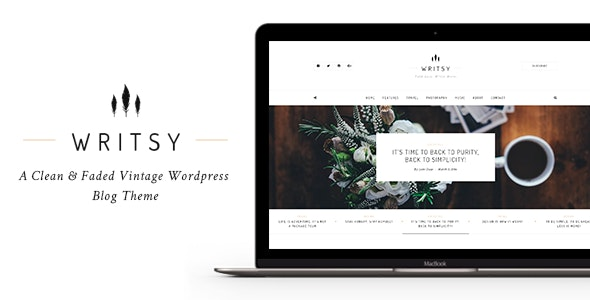 Writsy - A Clean & Faded Vintage WordPress Blog Theme - Personal Blog / Magazine