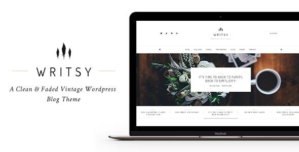 Writsy - A Clean & Faded Vintage WordPress Blog Theme
