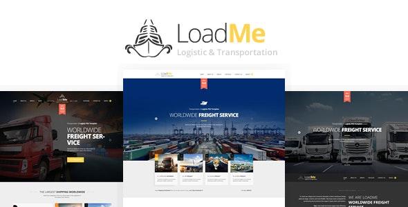 LoadMe - Logistic & Transportation PSD Template - Corporate Photoshop