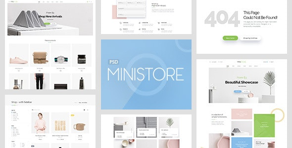 Mini Store - Accessories Shop PSD Template - Miscellaneous Photoshop