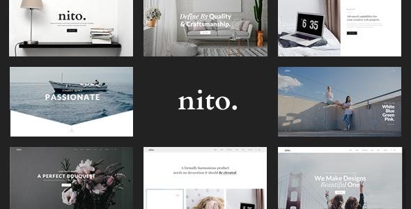 Nito - A Clean & Minimal Multi-purpose PSD Template - Creative Photoshop