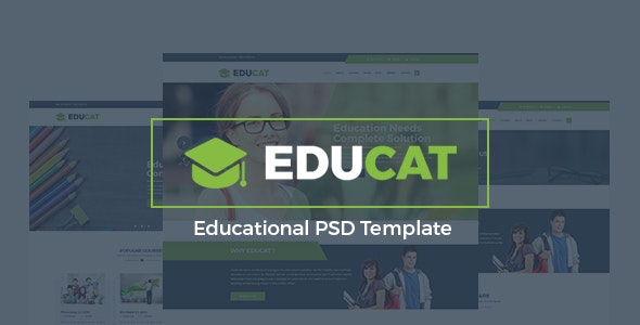 Educat - Education PSD Template - Business Corporate