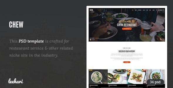 Chew - Restaurant PSD Template - Restaurants & Cafes Entertainment