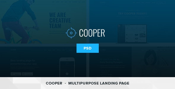 Cooper – 4 in 1 Multipurpose Landing Page PSD Template - Technology PSD Templates