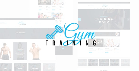 Gym Training - PSD Template - Miscellaneous PSD Templates