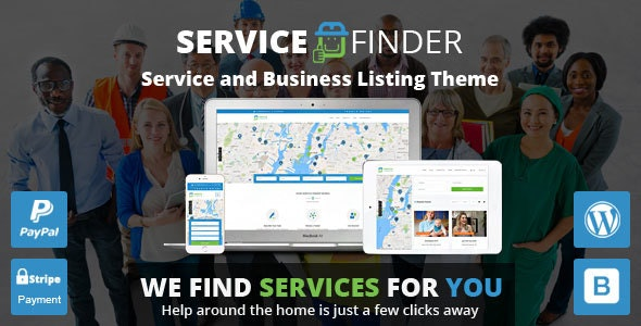 Service Finder - Provider and Business Listing WordPress Theme by