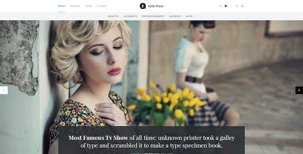 StylePress - Magazine and Blog PSD Template