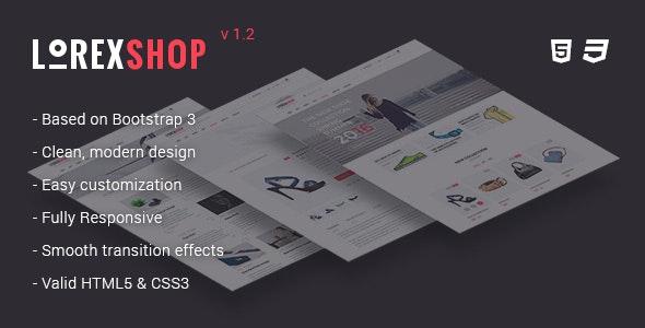 LOREX - Multipurpose Ecommerce HTML5 Template - Fashion Retail