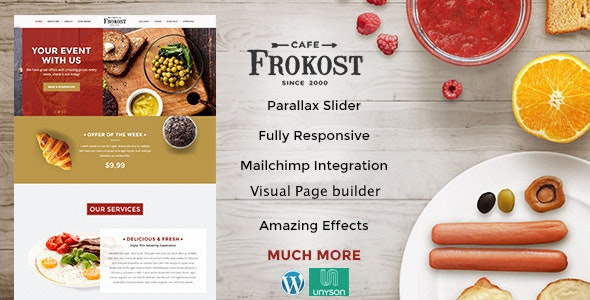 Frokost - One Page Restaurant Cafe WordPress Theme - Food Retail