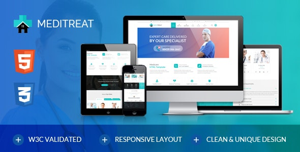 Meditreat-A Responsive Medical HTML Template for Hospitals, Clinics, Doctors & more - Health & Beauty Retail