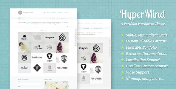 HyperMind: Clean and Creative WP Portfolio Theme - Portfolio Creative