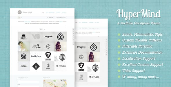 HyperMind: Clean and Creative WP Portfolio Theme