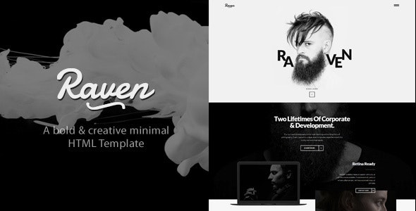 Raven - Minimal Blog HTML Template - Creative Site Templates