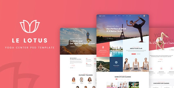 Le Lotus - Yoga Center PSD Template - Health & Beauty Retail