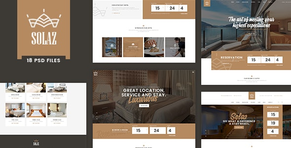 Solaz - An Elegant Hotel & Lodge PSD Template - Travel Retail